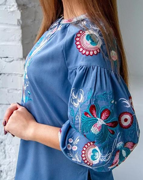 Сорочка-блузка з вишивкою