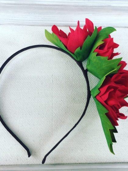 Обруч Червоні квіти