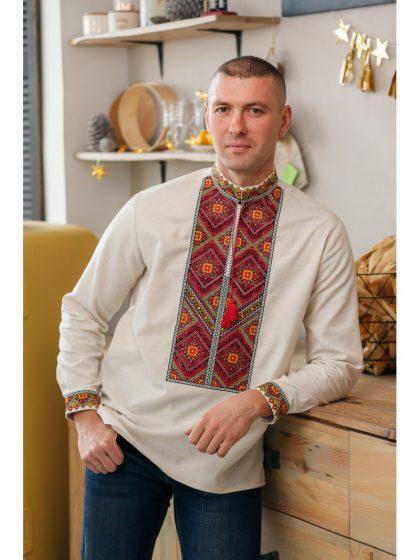 Сорочка чоловіча зі стильною вишивкою