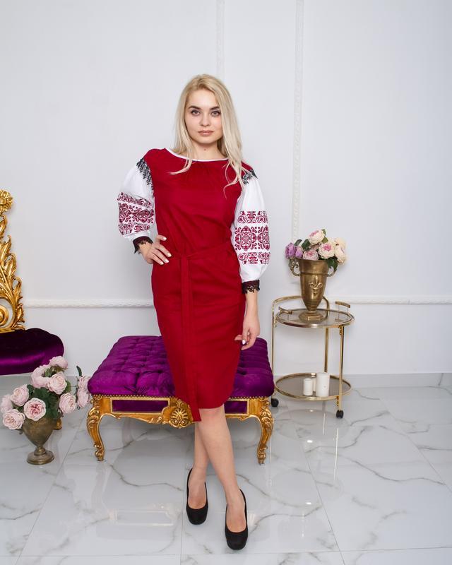 Сукня Даяна вишнева