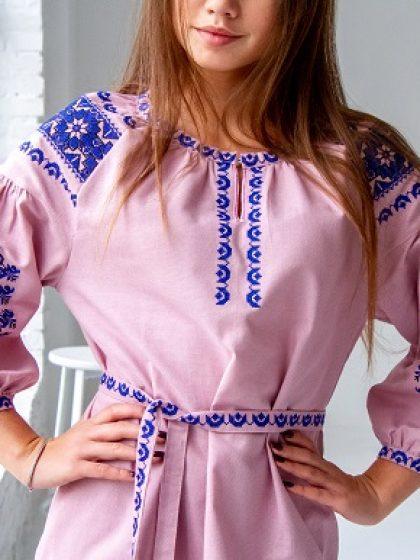 Сукня Азалія з домотканого полотна