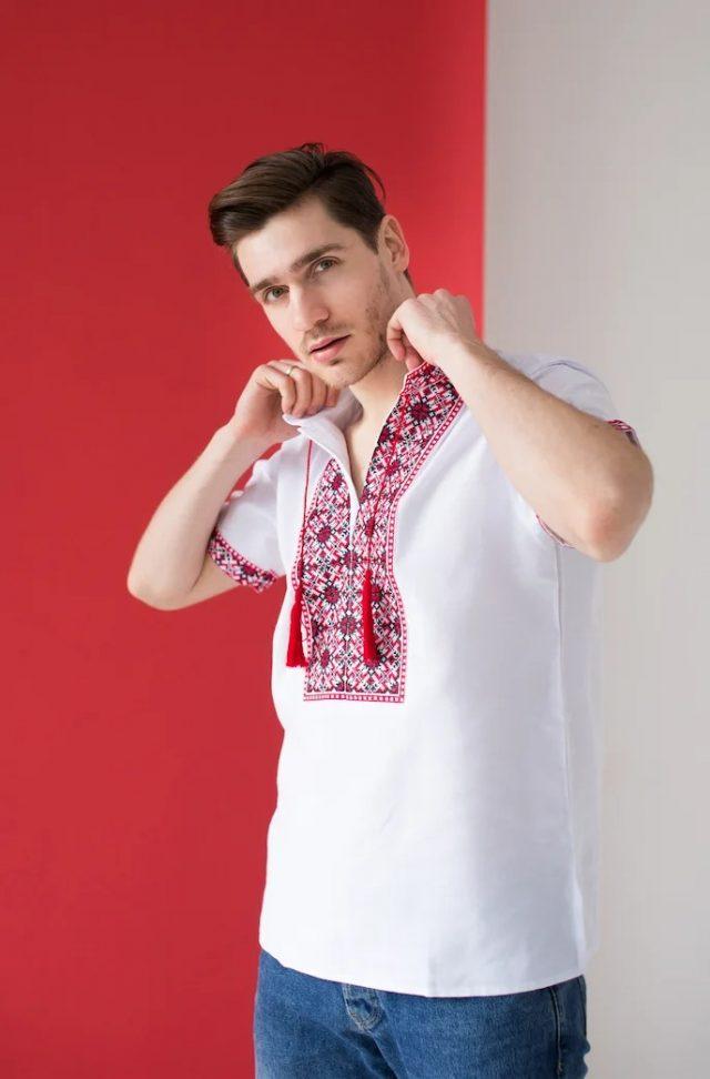 Сорочка з вишивкою Всеволод червона
