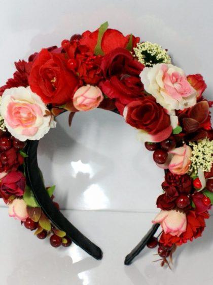 Обруч Червоні троянди