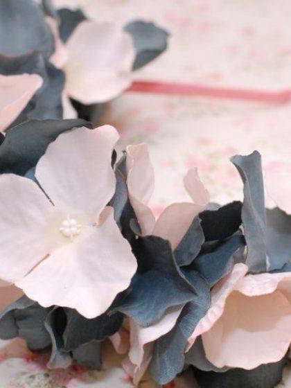 Обруч з тканинних квітів