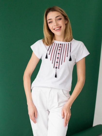 Жіноча футболка-вишиванка Орнамент
