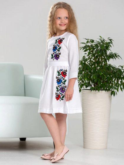 Вишивана сукня для дівчини Мальва