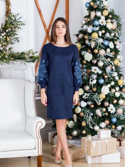 Сукня Скіфія синя з голубим