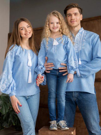 Парні сімейні вишиванки Зірка