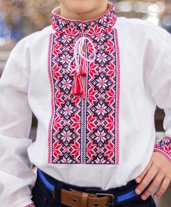 Вишивана сорочка біла з червоним